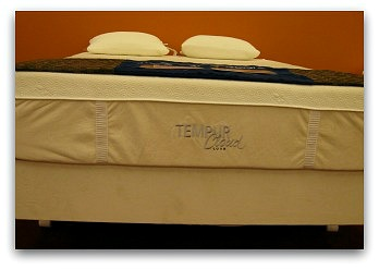 The Tempurpedic Cloud Luxe front view.