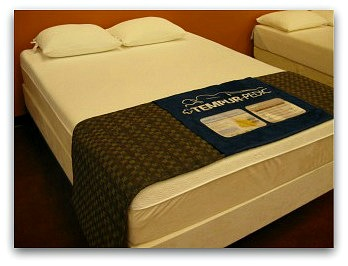 The Tempurpedic Cloud Supreme from left angle.
