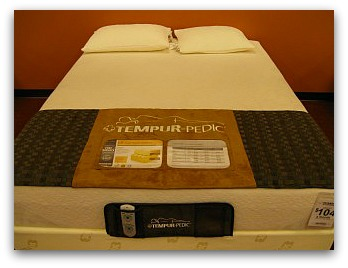 The Tempurpedic Contour Select front view.
