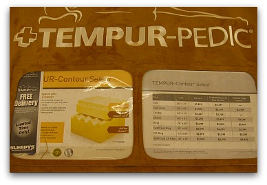 The brochure found on a Tempur Contour Select model.
