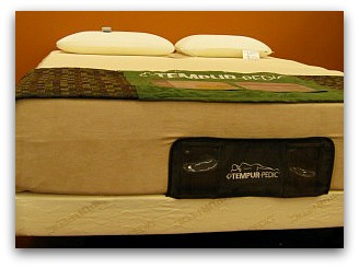 Front view of the Tempurpedic Rhapsody model.