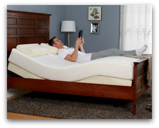 The Tempurpedic Simplicity in an adjustable bed frame.