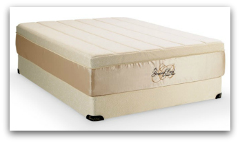 The Tempurpedic Grand bed on a high profile foundation.
