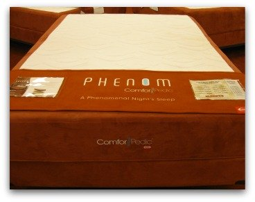 Simmons Comforpedic Phenom memory foam bed.