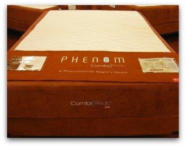 Simmons Comforpedic Phenom memory foam bed.