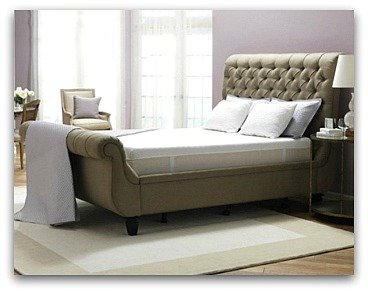 The Tempurpedic Cloud Luxe in a really nice bed frame.
