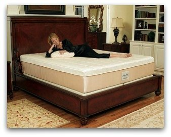 The Tempurpedic Grand Bed on a frame.